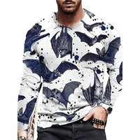 shark Graphic Men's Zipper Hoodie Visual Impact Party Top Punk Gothic Round Neck High Quality American Sweatshirt Hoodie