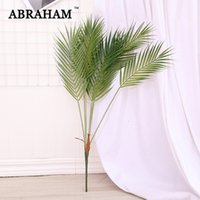 80cm 7 Fork Large Artificial Tree Fake Palm Leaves Tropical Plants Plastic Leafs Green Tree Foliage For Home Party Wedding Decor