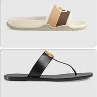 2021 Femme de designer G Pantoufles Hommes Slipper Engrenage Fonds Femmes Femmes Sandales de Prestige Fashion Chaussures de causalité Taille 35-46 US 12 avec boîte