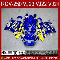 OEM Movistar Blue Body для Suzuki RVG250 250CC VJ 23 RGV250 SAPC VJ23 CoSling RGV-250CC 1997 1998 Codework 107HC.69 RGVT-250 RGVT RGV 250 CC RGV-250 Панель 97 98