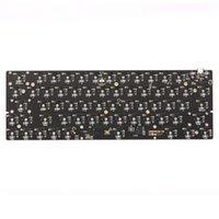لوحات المفاتيح 63 تخطيط Type-C مبادلة RGB PCB لوحة لوحة المفاتيح الميكانيكية 60 أطقم DIY QMK Solution الدعم القابل للبرمجة عبر