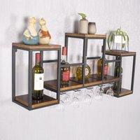 Crochets Rails de haute qualité Solide Wood Wood Wall Cadre Support Style industriel Suspendre Restaurant Creativ