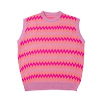 Round Neck Sleeveless Mens Womens Sweaters Streetwear Oversize Pullover Knit Casual Sweater