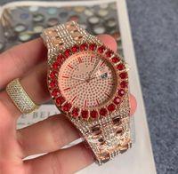 Men Designer Designer Designer Quartz Diamante Diamante Inlay Retro Classic Dress Clock Clock Steel Band Sport Mens Orologi da uomo