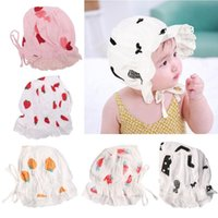 Summer Spring Baby Printing Sun Hat Breathable Cotton Beanie Bonnet Cap Born Pography Props For Toddler Infant Caps & Hats