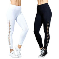 Yoga Outfits Slim Sports Pants Fitness Sexy Polyester Lace-up Sweatpants For Running