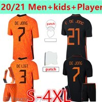S-4XL Netherlands 20 21 Memphis Soccer Jersey Camisa de Jong Holland de Ligt Strootman Van Dijk Virgil Wijnaldum 2022 Futebol Adulto Men + Kids Kit