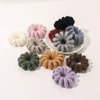 Knit Telephone Wire Cord Gum Hair Tie Accessories For Girl Woman Elastic Hairband Ring Rope Solid Color Bracelet Stretchy Scrunchy Boutique