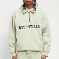 Hommes demi-zip pull-ovover pull à col haut surdimensionné cumulateurs surdimensionnés sweatshirts hommes femmes hip hop skateboard streetwear