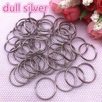 20 pçs / lote 20mm aberto ouro split anéis duplo loops conectores para jóias fazendo fontes de descobertas DIY