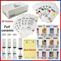 Scelte vape cartucce Atomizzatore Full Ceramic Cart Carrello 510 Thread 20 Colori 0.5ml Premere su Sigillo Adesivo Vuoto Carrelli di petrolio Vuoti Packaging Hologram