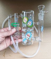 Portátil Bong Glass Cinzeiro Catcher Recycler Hand-Hand-Hand-Hand-Hand-Hand-helf WHIP ADICIAL 18.8MM adesivo adesivo adaptador tubo de silicone para fumar kothyshop vendendo