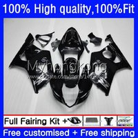 Carnaves de molde de inyección para Suzuki GSXR1000 GSX-R1000 GLOSSY BLACK K3 2003-2004 Bodywork 25NO.5 GSXR 1000 CC 1000CC 2003 2004 GSXR-1000 03 04 Motocicleta OEM Bodys