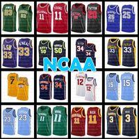 NCAA 50 David Robinson Basketbol Forması John Stockton Charles Barkley Penny Individge College Michael Gary Payton Kuzey Carolina Eyalet Üniversitesi