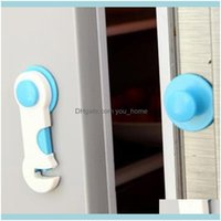 Hardware Building Supplies Home & Gardenhome Use Protection Children Der Doors Baby Child Plastic Simple Lock Kids Safety Pink Blue Refriger