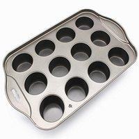 Mini Mini Cheesecake Pan, 12 taza de metal extraíble Pastel Redondo Magdalena Muffin Muffin Forma Molde para hornear Herramienta de postre para hornear NHA5402