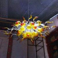 Estilo moderno Murano vidro lâmpada lâmpada arte personalizada candelabros pendurando luzes led luzes para casa villa decoração iluminação pingente
