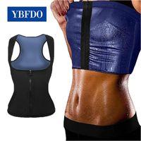 Women's Shapers YBFDO 2021 Women Zip Vest Shapewear Waist Corset Weight Loss Workout Sports Top Sauna Effect Fat Burning Body Shaper