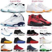 air jordan 11s 12s 13s Zapatillas de baloncesto de aparentes hombres Universidad de oro 12s 13s Hyper Real zapatillas de deporte 5,5-13 criados