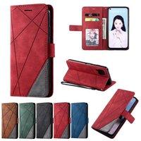 Leather Flip Case For Huawei P40 Lite E 5G P20 P30 P Smart 2021 Nova 7 7SE 4E 5i Pro Matte Stripe Phone Cover Cell Cases
