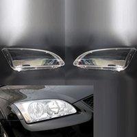 GAUCHE 2 PCS + Voiture droite Phare avant Lentille Couvercle de lumière Couvercle d'amplipe Accessoires d'obus adaptés à Ford Focus 2006 2006 2007 2008
