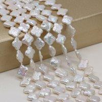 고품질 천연 담수 진주 바로크 느슨한 구슬 13x14 mm 쥬얼리를위한 DIY 목걸이 팔찌 귀걸이 액세서리