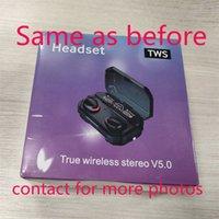 Auricolari wireless trasparenza trasparenza in metallo Rinomina GPS GPS Wirless Auricolari Carica Auricolari Bluetooth Generazione in-ear Detection per il cellulare