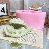 Sleeping Angel Shape Candle Formy 3D Baby Handmade Silikonowe Mold Home Tynk Dekoracji Narzędzia Craft