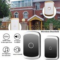 Doorbells Home Wireless Waterproof Doorbell 300m Range US EU UK Plug Intelligent Door Bell 36 Ring Chimes 1 Button Receiver