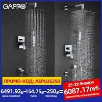 Shower Faucets Bathroom Faucet Mixer Bathtub Taps Rainfall Set Wall Mounted System Torneira Do Chuveiro Sets