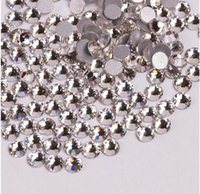 10 Pack Set(1440Pcs Pack )Nail Crystal White Rhinestone Glass Flat Back 3D Charm Diamond Stone Glitter Beads Nail Art Decoration