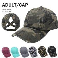 Creative Camouflage Ponytail Baseball Cap Women Washed Cotton Trucker Caps Casual Summer Snapback Fashion Street Hats