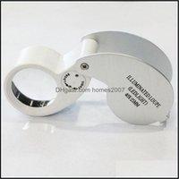Diğer Ölçüm Analiz Ölçüm Analiz Aletleri Ofis Okul Işletme Endüstriyel200 adet / grup 40x 25mm Cam Büyüteç Mücevher M
