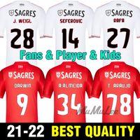 2021 Hayranları + Oyuncu 2022 Benfica Futbol Formaları Retro Waldschmidt Seferovic Everton Pizzi Rafa Darwin Eve Uzaktan Futbol Gömlek Çocuk Seti