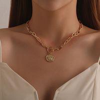 Collar Vintage Multilapa Múltiple Mátil Grande Ladies Regalo Mapa Luna Mapa de Cuerno Crescent Gargantilla Collares Joyería