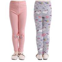 Baumwollmädchen elastische Hosen Leggins Frauen Unicorn Print Leggings Herren Jeans