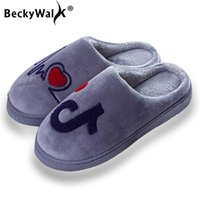 Chinelos Beckywalk Mulheres de Pelúcia Inverno Casa Indoor Quarto Sapatos Musical Nota Mulher Quente Mulher Homens Wsh3125