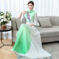 Casual Dresses Costumes Women's Long Maxi Dress Elegant Chinese Style Cloth Woman Plus Size Performance Printed head Cosplay ZASL