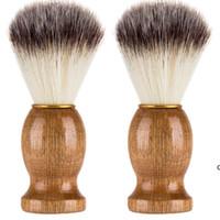 Banyo Malzemeleri Kuaför Saç Tıraş Jilet Fırçalar Doğal Ahşap Saplı Sakal Fırçası Erkekler Hediye Için HWD7109