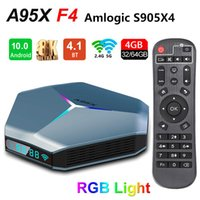A95x F4 Caixa de TV Android 10,0 Amlogic S905x4 4GB 32GB / 64GB / 128GB ROM 2.4G 5G WiFi 2T2R Bluetooth 8K Set Top Caixas