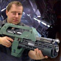1: 1 مقياس m41-a نبض بندقية نموذج papercraft لعبة diy 3d ورقة بطاقة العسكرية نموذج اليدوية الحرف اللعب لصبي هدية