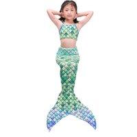 Mode Ariel Hohe Qualität Mädchen Kinder Meerjungfrau Schwanz Swimmable Bikini Set Badeanzug Schwimmen Kostüm Cosplay