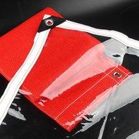 Thume Custom 99,9% прозрачный ПВХ брезентовый палатка крышка Windows ветрозащитная водонепроницаемая ткань укрытие четкий дождь непростаивающий сад брезент