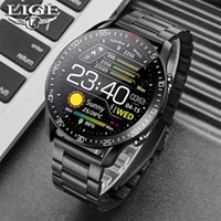 LIGE BW0160 New Smart watch Men Full touch Screen Sports Fitness watch IP68 waterproof Bluetooth Suitable For Android ios Smart watch