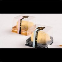 Cuocere strumenti da pasticceria Bakeware Cucina, Sala da pranzo Casa Giardino Giardino Consegna Drop 2021 Trays 50g Vassoi Moon Torta Packaging Boxes Gold Black Plastic Bott