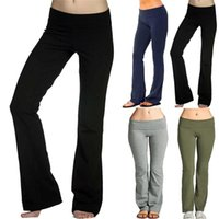 Women's Leggings Women Ladies Skinny Flare Long Pants Solid High Waisted Slim Hipped Hem Office Sport Trousers Leggins