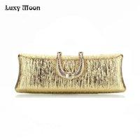 Luxy Mond Abend U Diamant Gold Sier Clutch Taschen Frauen Mode Hochzeit Party Geldbörse Kupplungen Mini Bag Ketten Handtaschen