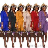 Mujeres de dos piezas Set Blazers Trajes con pantalones cortos Pantalones de otoño Moda de otoño Chaqueta de color sólido Malla Sheer Malla de patchwork Oficina Lady Blazer S-XXL