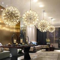 포스트 - 현대 샹들리에 조명 예술 창의력 Nordic 스파크 볼 장식 레스토랑 거실 별 스테인레스의 전체