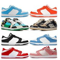 Classic Fashion SB Dunky Low Pro Dress Shoes Rubber Photon Street Hawker Chunky Orange Pearl Green Glow Coast Plum Black White Sports Sneakers Trainers 36-44